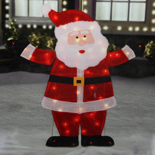 """42"""" Lighted Jolly Santa Claus Outdoor Christmas Decoration ..."""