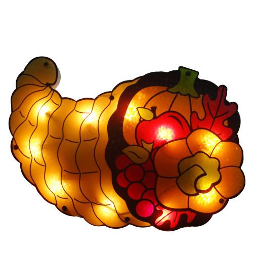 20 Quot Lighted Cornucopia Thanksgiving Window Silhouette