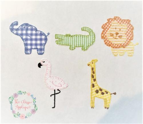 Zoo, Trio, Animals, Lion, Blanket Stitch, Raggy, Giraffe