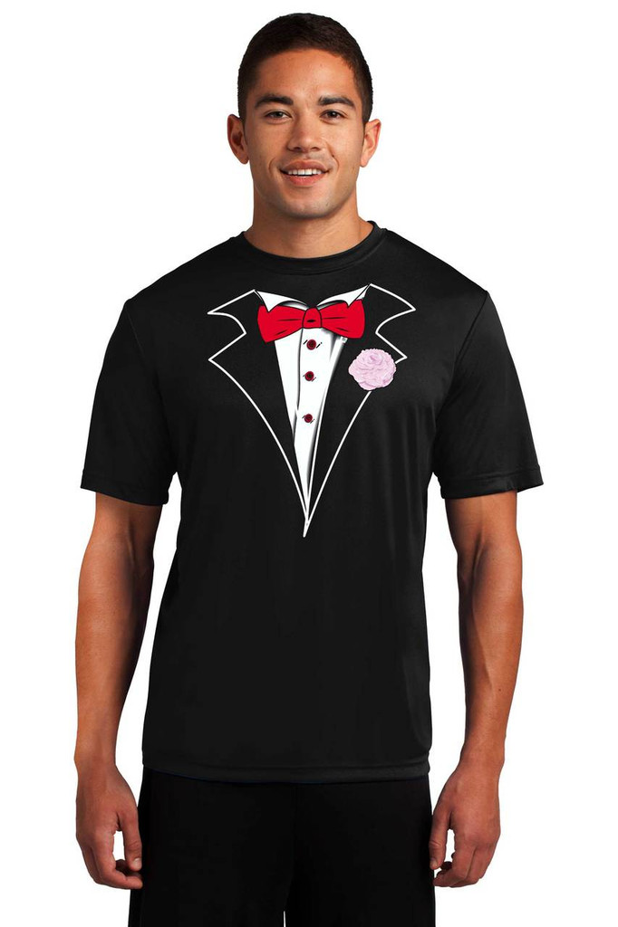 Performance Tuxedo T-Shirt - Loose Athletic Dry Fit Material