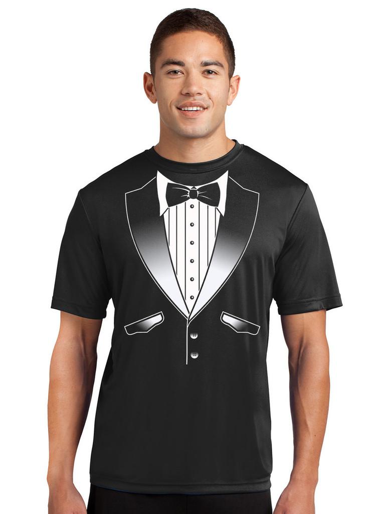 Performance Original Tuxedo T-Shirt - Loose Athletic Dry Fit Material