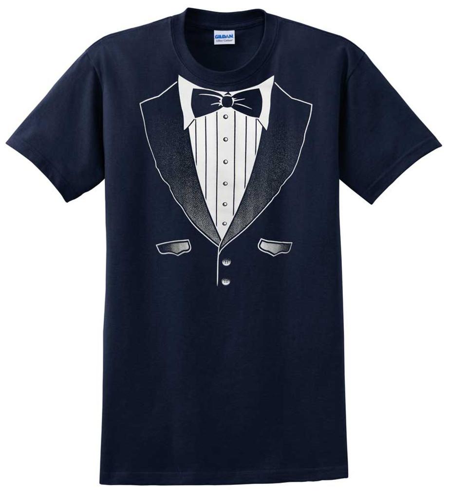 Original Navy Tuxedo T-Shirt - Heavy Cotton
