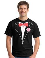 Tuxedo T-shirt in Black - Classic