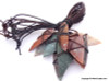Native American Arrowhead Agate Leather Wrap Pendant