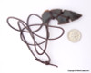 Native American tool shaped Agate Leather Wrap Pendant