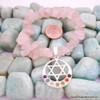 Rose Quartz Chakra Bracelet Charm Amulet Moon & Star