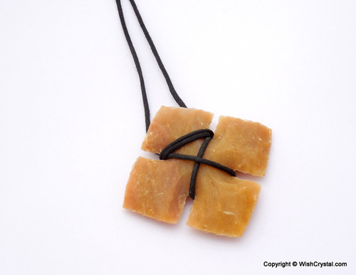 Cross Shaped Agate Arrowhead Leather wrap pendant