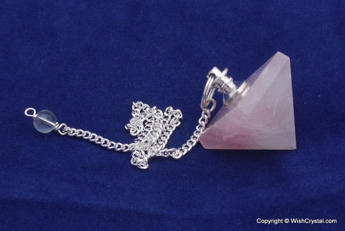 Rose Quartz Pyramid Pendulum