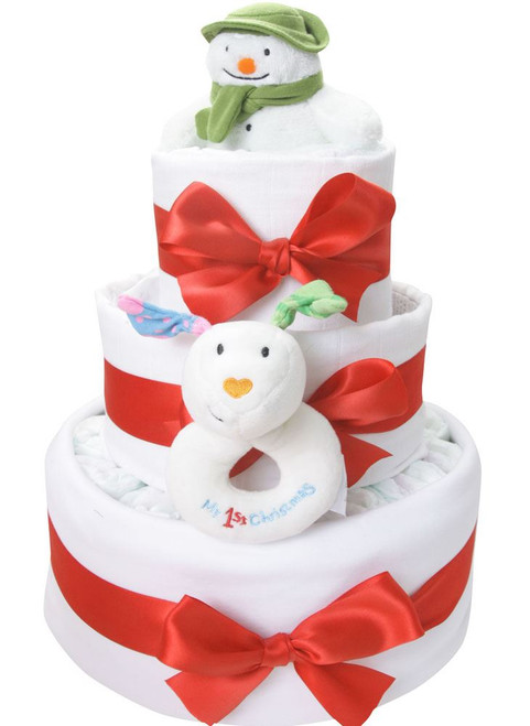 3 Tier Snowman and the Snowdog Nappy Cake