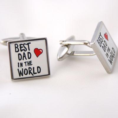Cufflinks Best Dad in The World
