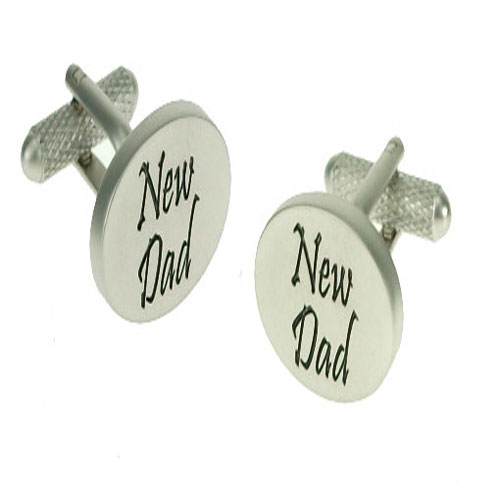 New Dad Cufflinks (Metal)