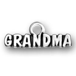 Grandma Sterling Silver Bracelet Charm