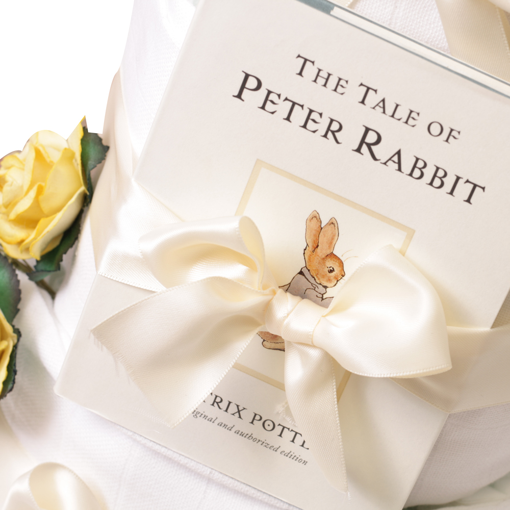 3 Tier Unisex Tales Of Peter Rabbit Nappy Cake