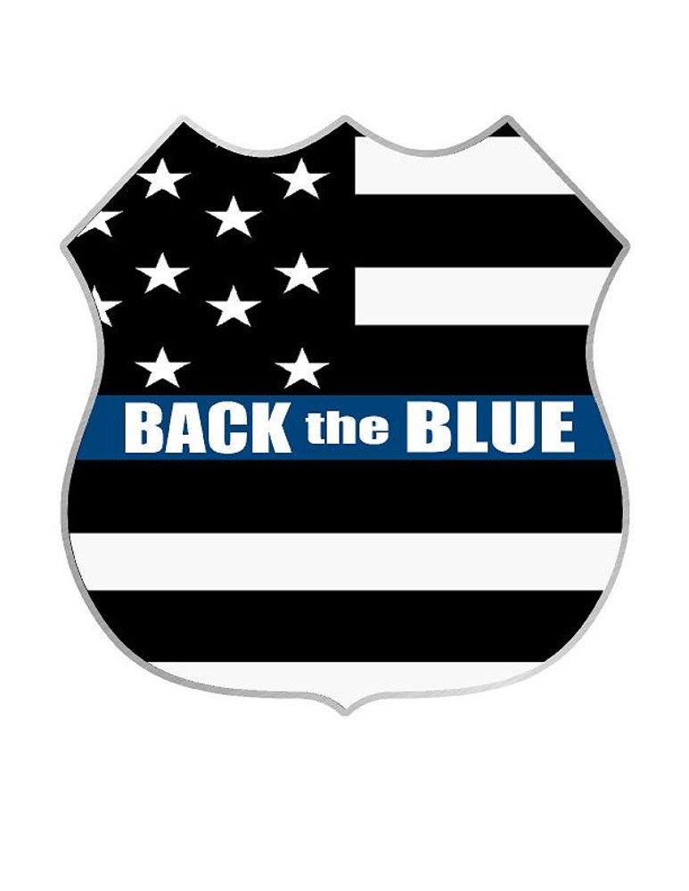 Back the Blue 2017-5 decal