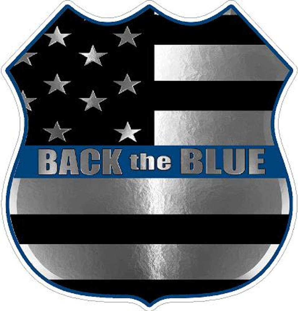 Back the Blue 2017-6 decal
