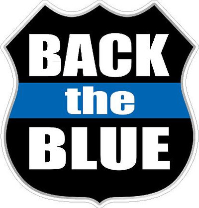 Back the Blue 2017-4 decal