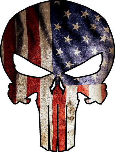 American Punisher Decal