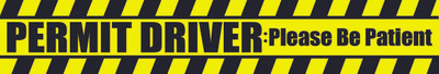 Decal-Permit Driver-3 flo yellow