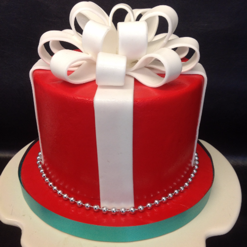 Christmas gift box cake christmas gift box cake ch00014 negle Image collections
