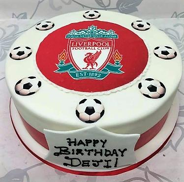 Liverpool Football Club Photo Cake