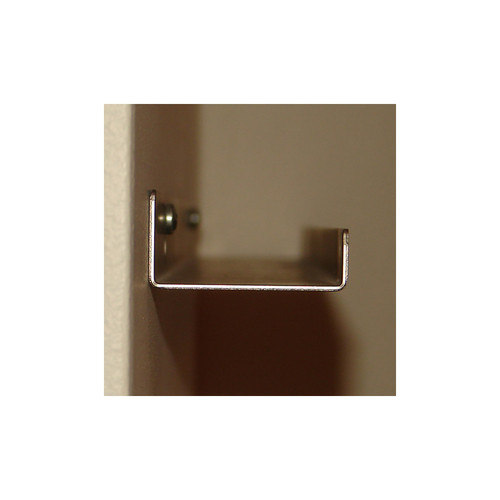 """Deep Picture Ledge: 5ft / 60in Black Metal Picture Ledge, 3.5"""" Deep"""