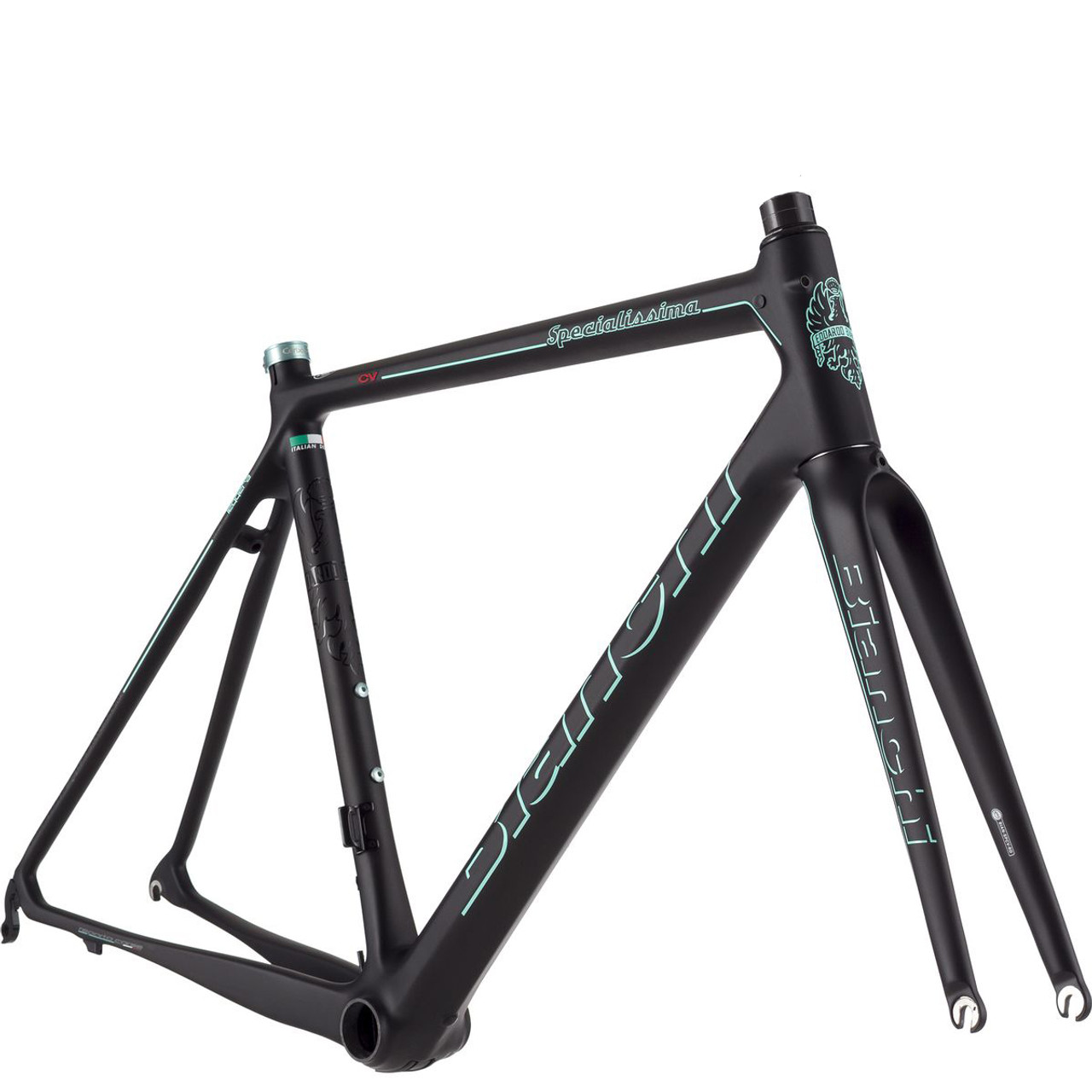 Texas Cyclesport Bianchi Specialissima Frameset, Black BI-SPL-FR-BK ...