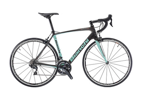 Bianchi C2C Infinito CV Campagnolo Ergo equipped Carbon Bicycle, Black & Celeste Green - Build It Your Way
