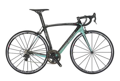 Bianchi HoC Oltre XR.2 SRAM 22 equipped Carbon Bicycle, Black & Celeste Green - Build It Your Way