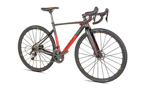 Van Dessel Full Tilt Boogie Disc Shimano Di2 equipped Carbon Bicycle, Red / Black - Build It Your Way