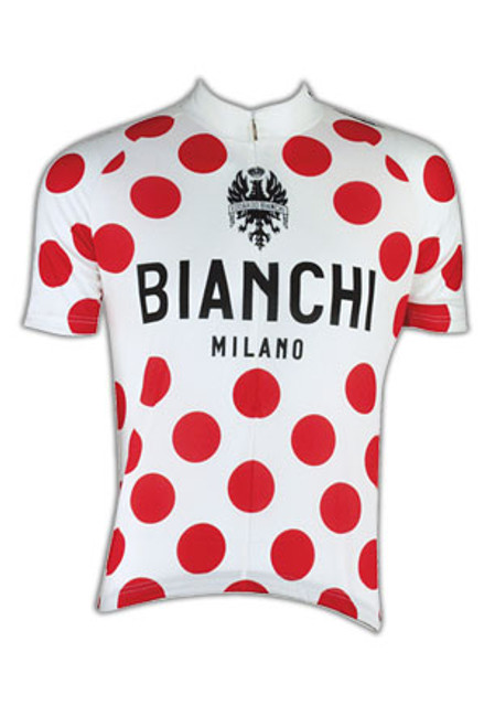 Bianchi Pride Jersey, White Polka Dot