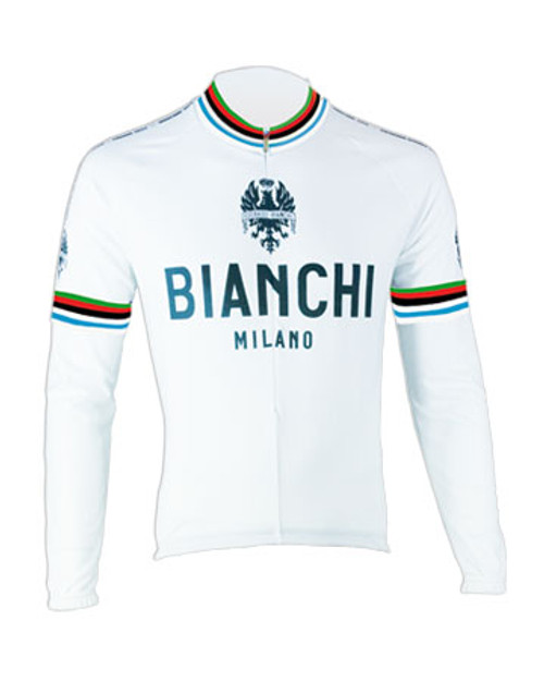 Bianchi Pride Long Sleeve Jersey, White World Champion