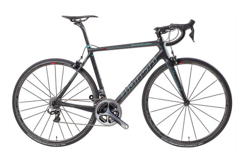 Bianchi Specialissima Shimano STI equipped Carbon Bicycle, Matte Black - Build It Your Way
