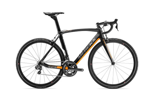 Eddy Merckx 525 Endurance Campagnolo Ergo equipped Carbon Bicycle, Black Anthracite & Orange Satin Accents - Build It Your Way