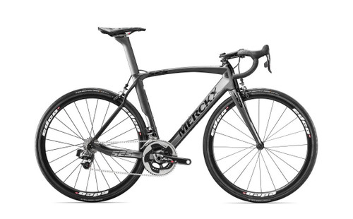 Eddy Merckx 525 Endurance Campagnolo Ergo equipped Carbon Bicycle, Black Anthracite & Silver Satin - Build It Your Way