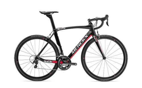 Eddy Merckx 525 Endurance Campagnolo Ergo equipped Carbon Bicycle, Black Anthracite & Red Gloss Accents - Build It Your Way
