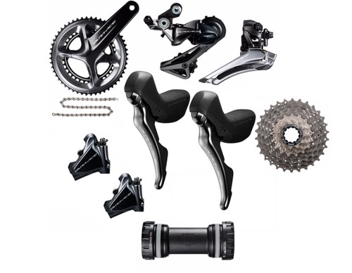 Shimano Dura-Ace   R9120 Hydraulic Flat Mount STI Groupset | Daily Deal