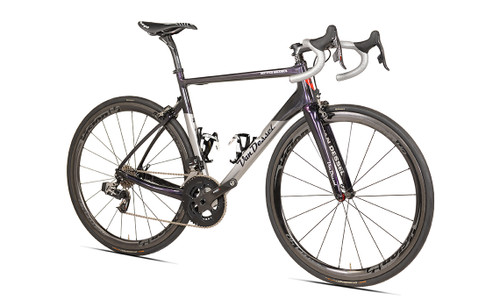 Van Dessel Full Tilt Boogie Disc Shimano STI equipped Carbon Bicycle, Silver / Black / Purple - Build It Your Way