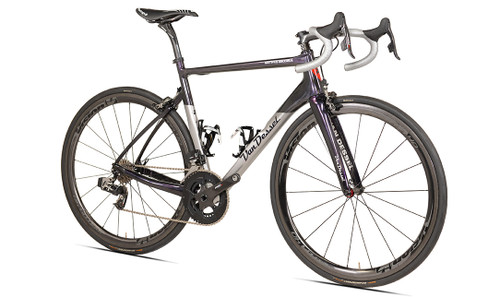 Van Dessel Motivus Maximus Disc Campagnolo EPS V3 equipped Carbon Bicycle, Silver / Black / Purple - Build It Your Way