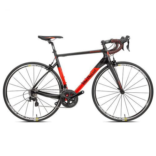 Van Dessel Motivus Maximus Disc Campagnolo EPS V3 equipped Carbon Bicycle, Red / Black - Build It Your Way