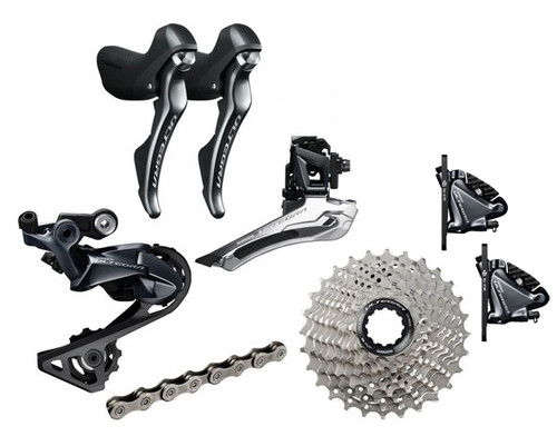 Shimano Ultegra  R8020 Hydraulic Flat Mount STI 6 piece Upgrade Kit | Daily Deal