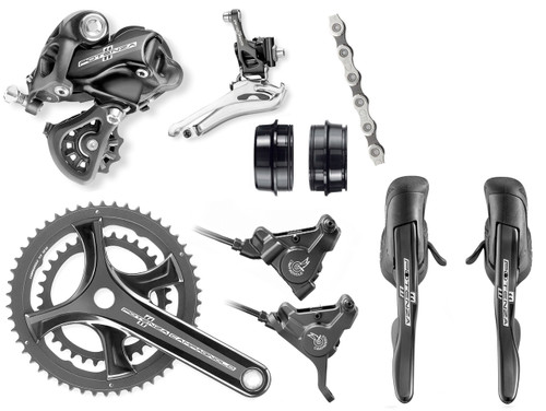 Campagnolo Potenza Hydraulic Flat Mount Ergo Groupset (less cassette)