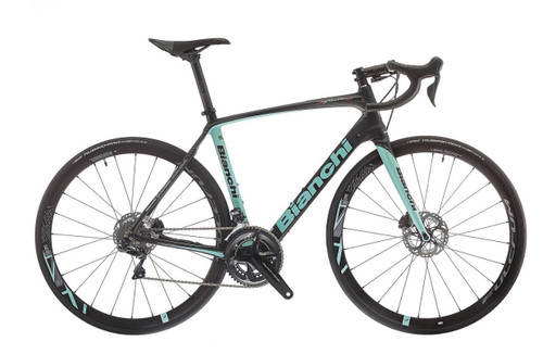Bianchi C2C Infinito CV Disc Campagnolo Ergo H11 Hydraulic equipped equipped Carbon Bicycle, Black & Celeste Green - Build It Your Way