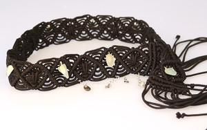 Macrame & Sea Glass hand made Belt.
