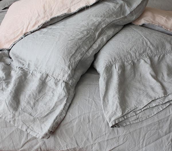 Dove Grey Mermaid Tail Pillow shams