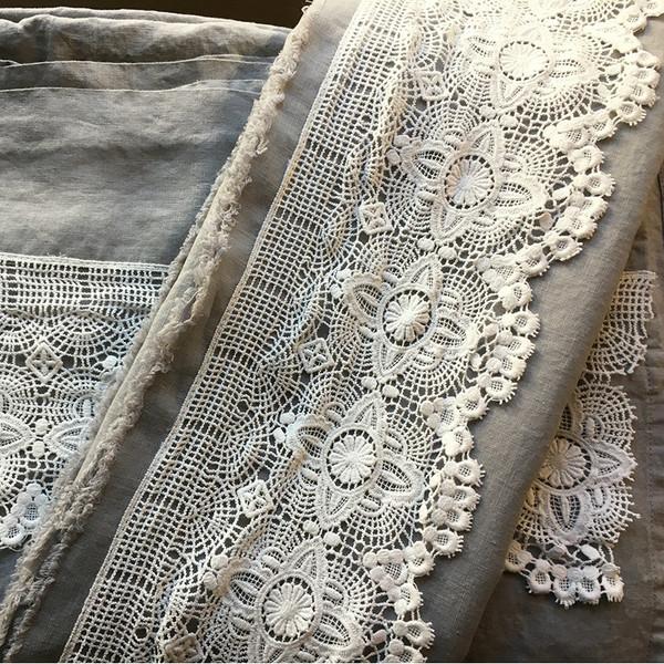 Luxury linen French Linen + Wide Cotton lace Luxury Linen.