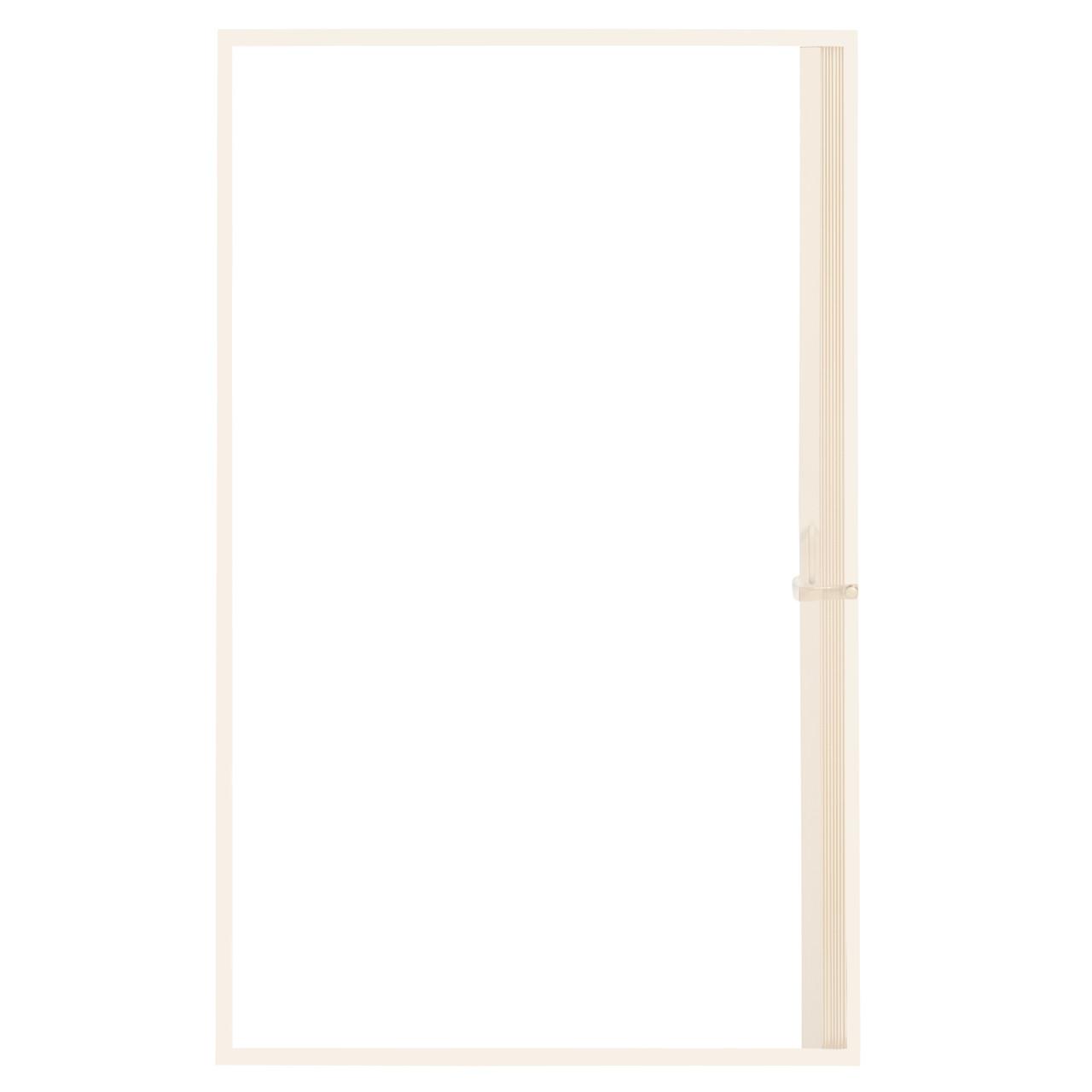 Pleated Folding RV Shower Doors Ivory - RecPro