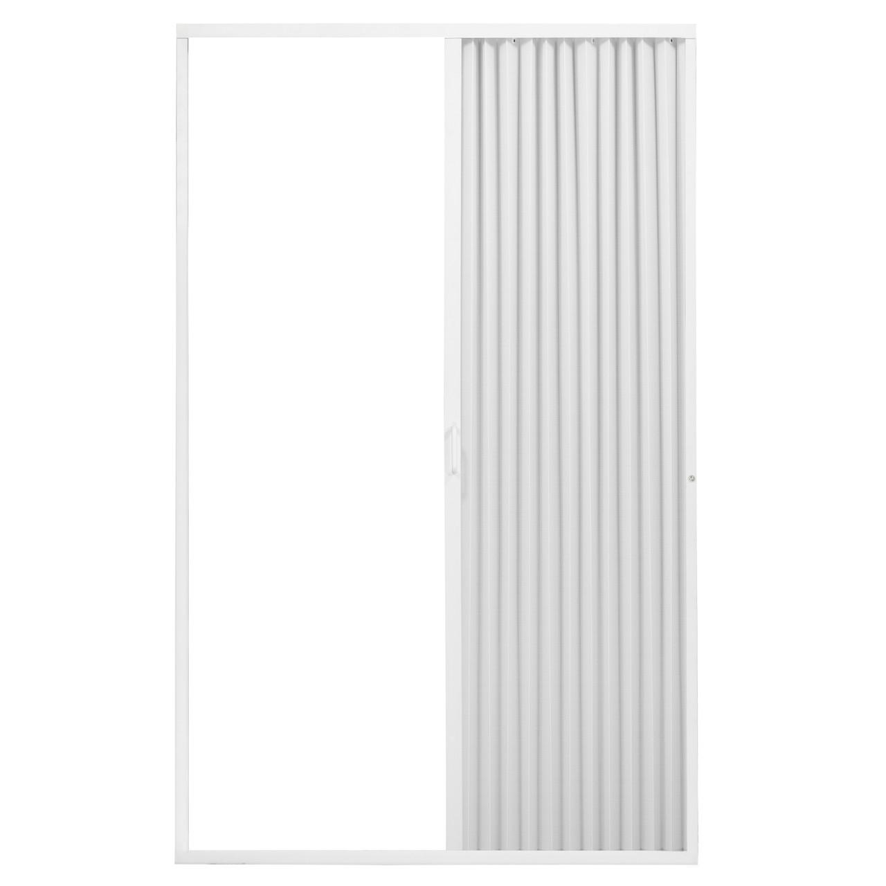 Pleated Folding RV Shower Doors White - RecPro