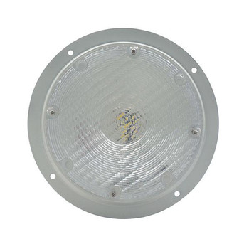 "White 8.5"" LED RV Porch Light"