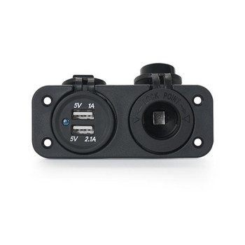Marine Grade RV Dual USB & 12V Power Socket
