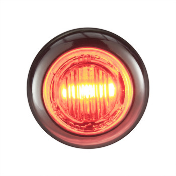 """3/4"""" Clear/Red LED Clearance Marker Bullet Lights"""